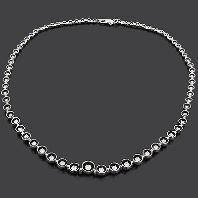 Designer Diamond Journey Necklace 2.62ct 18K Gold