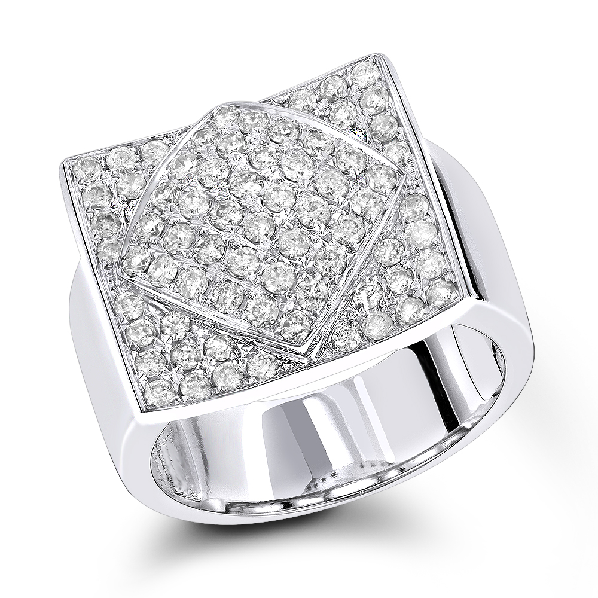 Designer Diamond Ring 1.34ct 14K