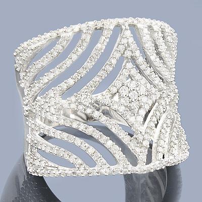 Designer Diamond Rings: 14K Cut-Out Diamond Ring 1.40