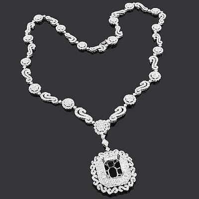 Designer Diamond Semi Mount Necklace 15.03ct 18K Gold