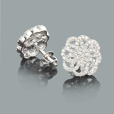 Designer Diamond Swirl Earrings 0.52ct 14K Gold