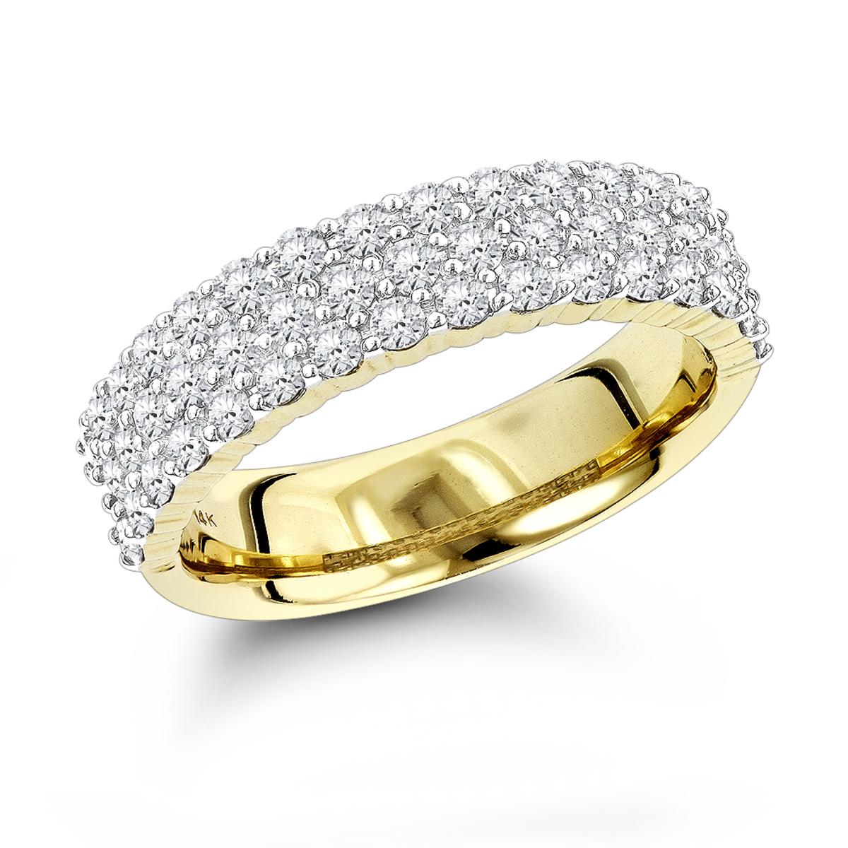 Designer 1 Carat Diamond Wedding Band for Women 14K Gold