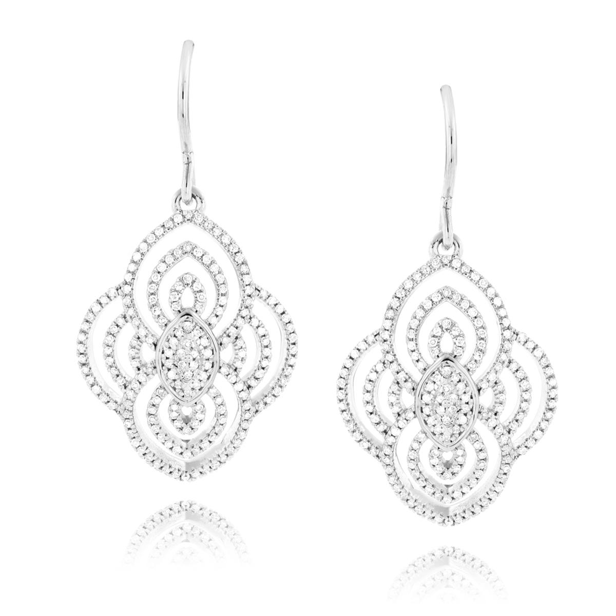 Designer Drop Diamond Earrings For Women 0.6ct 14K Gold