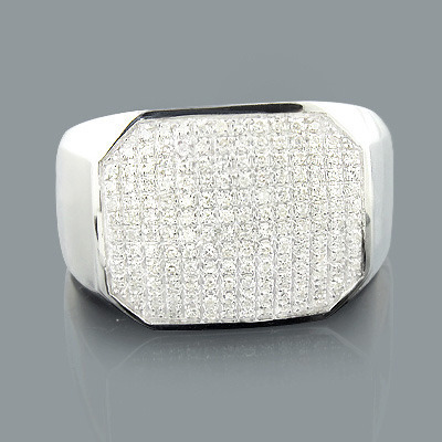 Designer Mens Diamond Ring 0.50ct 10K Gold