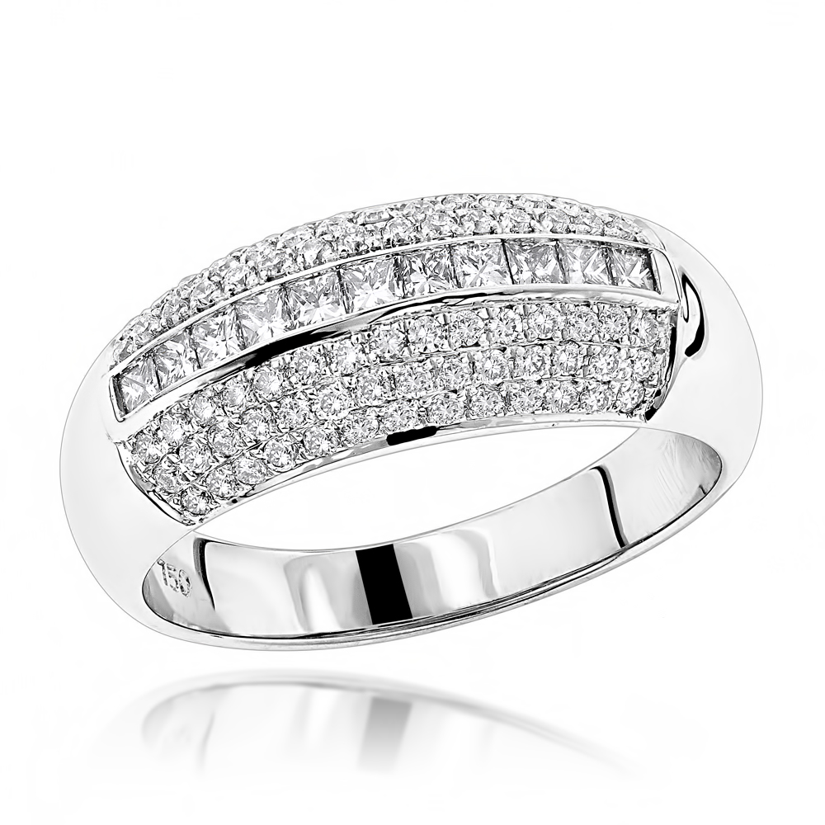 Diamond Bands 18K Gold Womens Diamond Ring 0.60ct