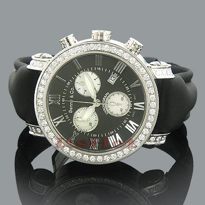 Diamond Benny Co Mens Watch 3ct Black
