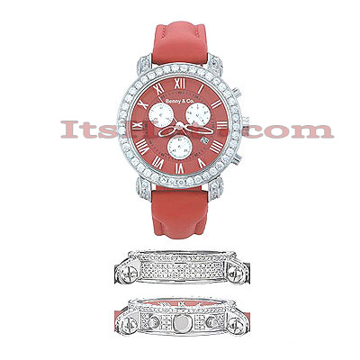 Diamond Benny Co Watch Mens 6ct Red