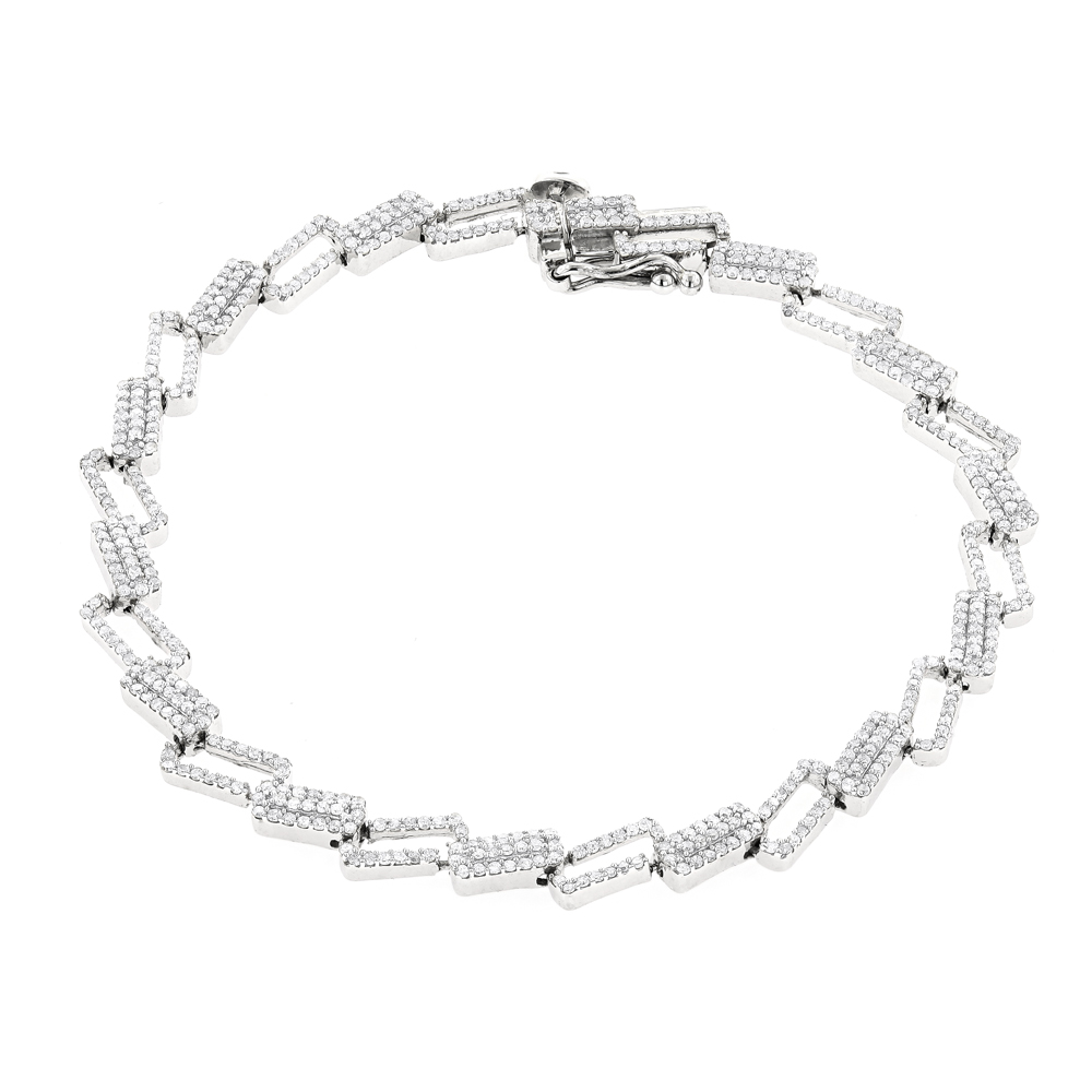 Diamond Bracelets 14K Gold Ladies Diamond Bracelet 1.84