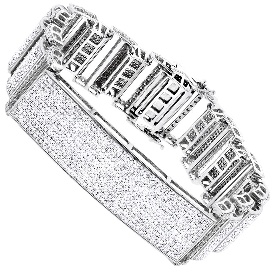 Diamond Bracelets 14K Gold Mens Diamond Bracelet 12.62