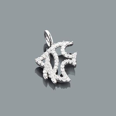 Diamond Charms: Cute Diamond Fish Pendant 0.17ct 10K Gold