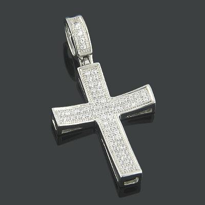 Diamond Cross Pendants 10K or 14K Gold Diamond Cross 0.29ct