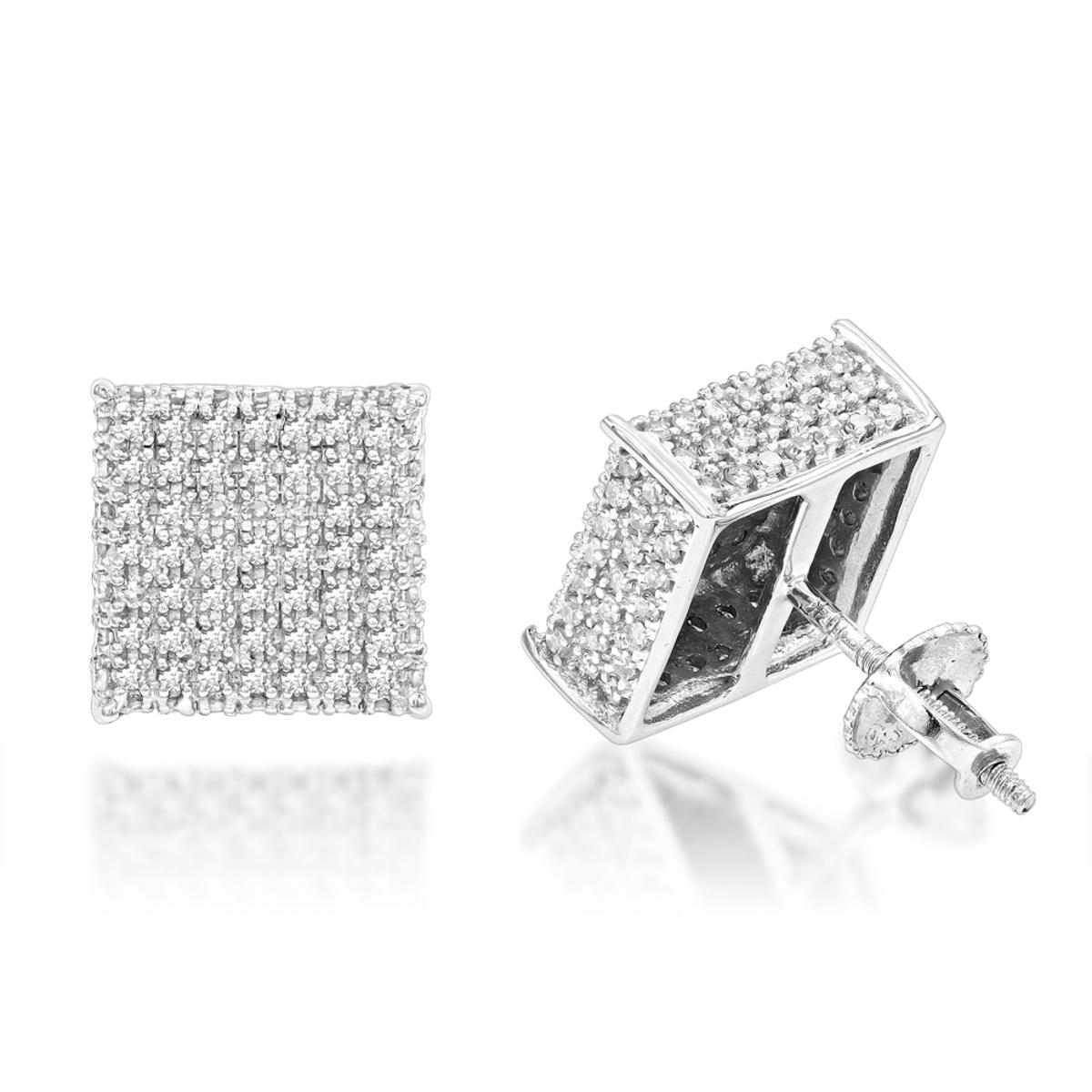 Diamond Earrings 10K Gold Diamond Stud Earrings 1.15ct