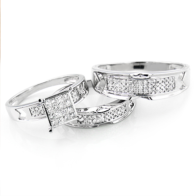 Diamond Engagement Ring Set 0.8ct 14K Gold