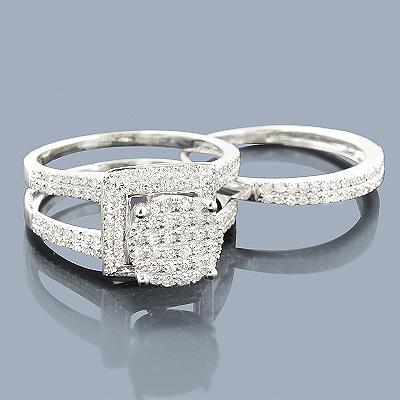 Affordable 1 Carat Diamond Engagement Ring Set in 14K Gold