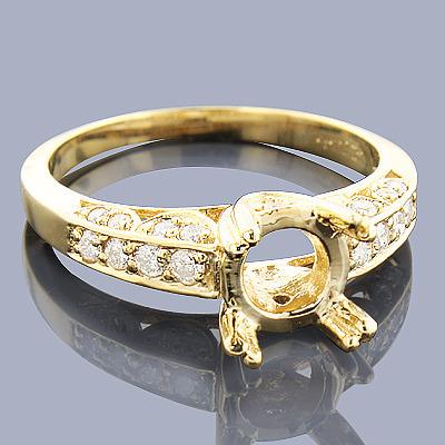 Diamond Engagement Ring Setting 0.44ct 14K Gold