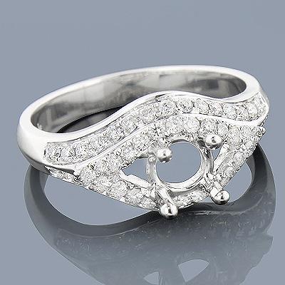 Diamond Engagement Ring Setting 0.64ct 14K Gold