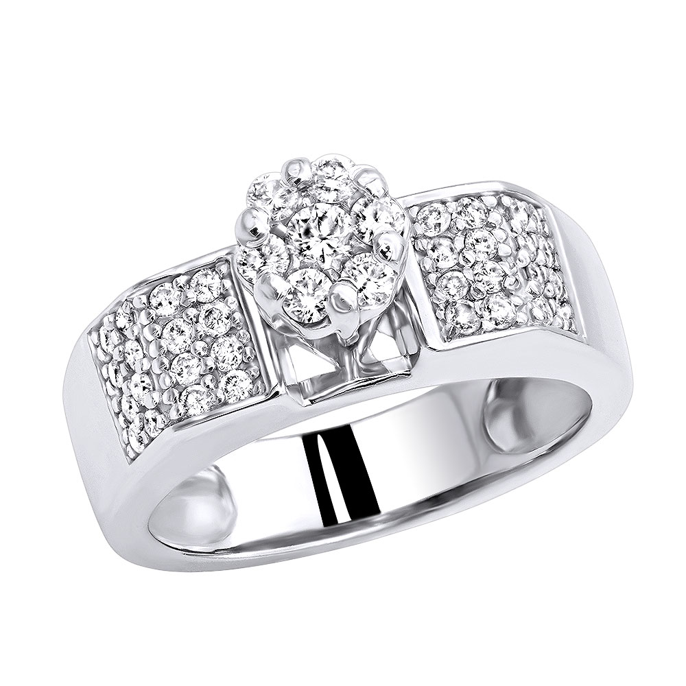 Affordable Pre-Set Diamond Engagement Rings 14K Yellow Rose White Gold .75