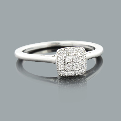 Diamond Engagement Rings for Cheap: 14K Gold Ring  0.11ct
