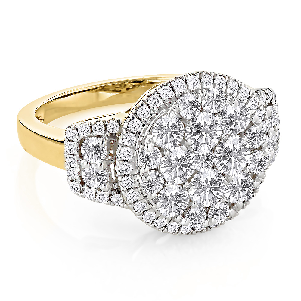 Diamond Engagement Rings: Round Diamond Ring 2.03ct 14K Gold