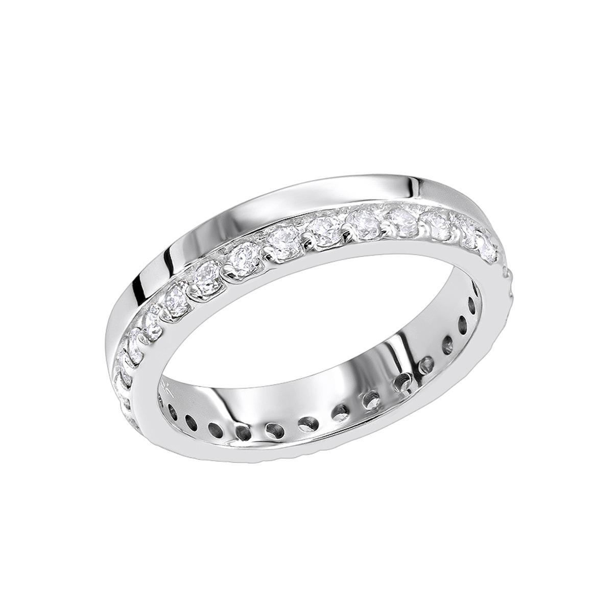 Thin Diamond Eternity Bands 14K Gold Eternity Ring 0.57ct