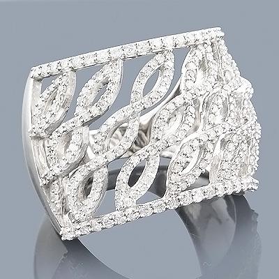 Diamond Fashion Rings: 14K Gold Diamond Ring 1.25