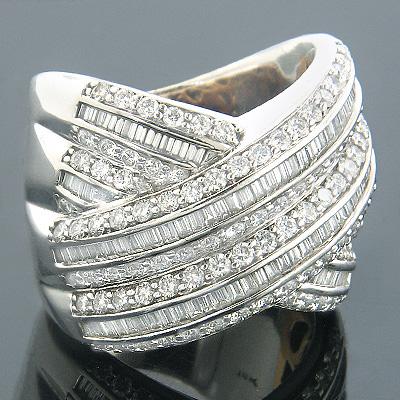 Diamond Fashion Rings 18K Diamond Cocktail Ring 3.10ct