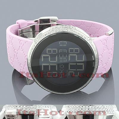 Diamond Gucci Watches Ladies Diamond Watch 3ct Pink