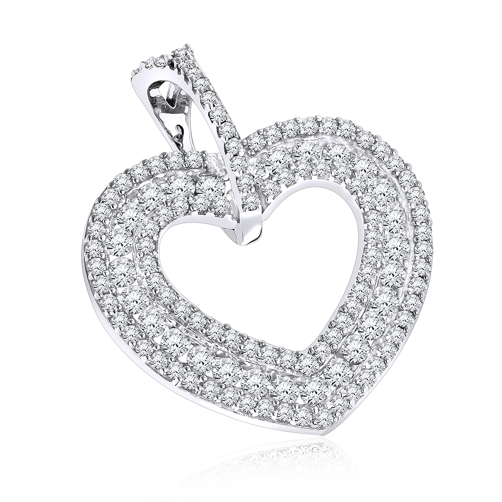 Diamond Heart Pendant 14K 0.50ct
