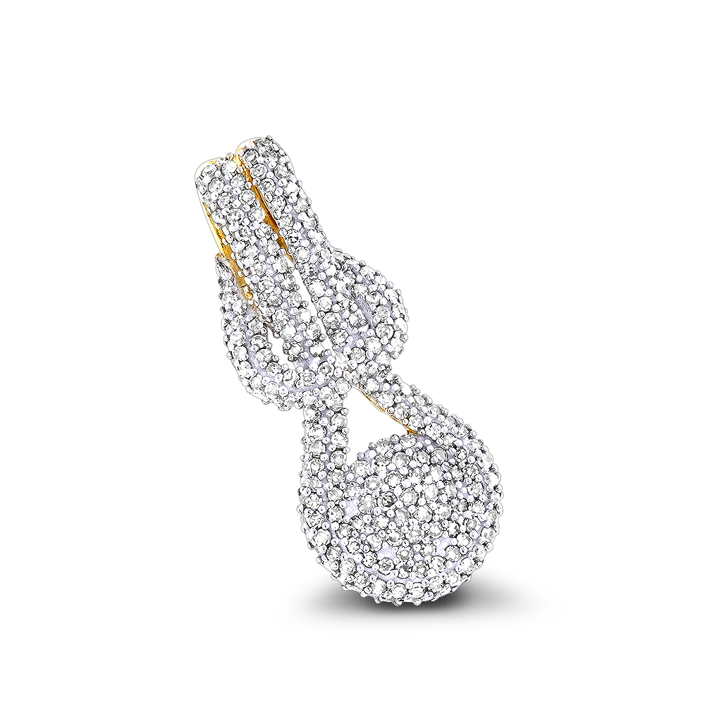 Diamond Love Knot Pendant 14K 0.6ct