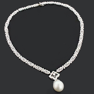 Diamond Necklaces 1.72ct 18K Gold Diamond Necklace