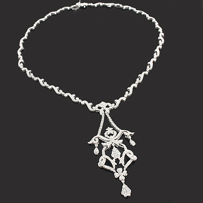 Diamond necklaces designer chandelier necklace 290ct 14k audiocablefo
