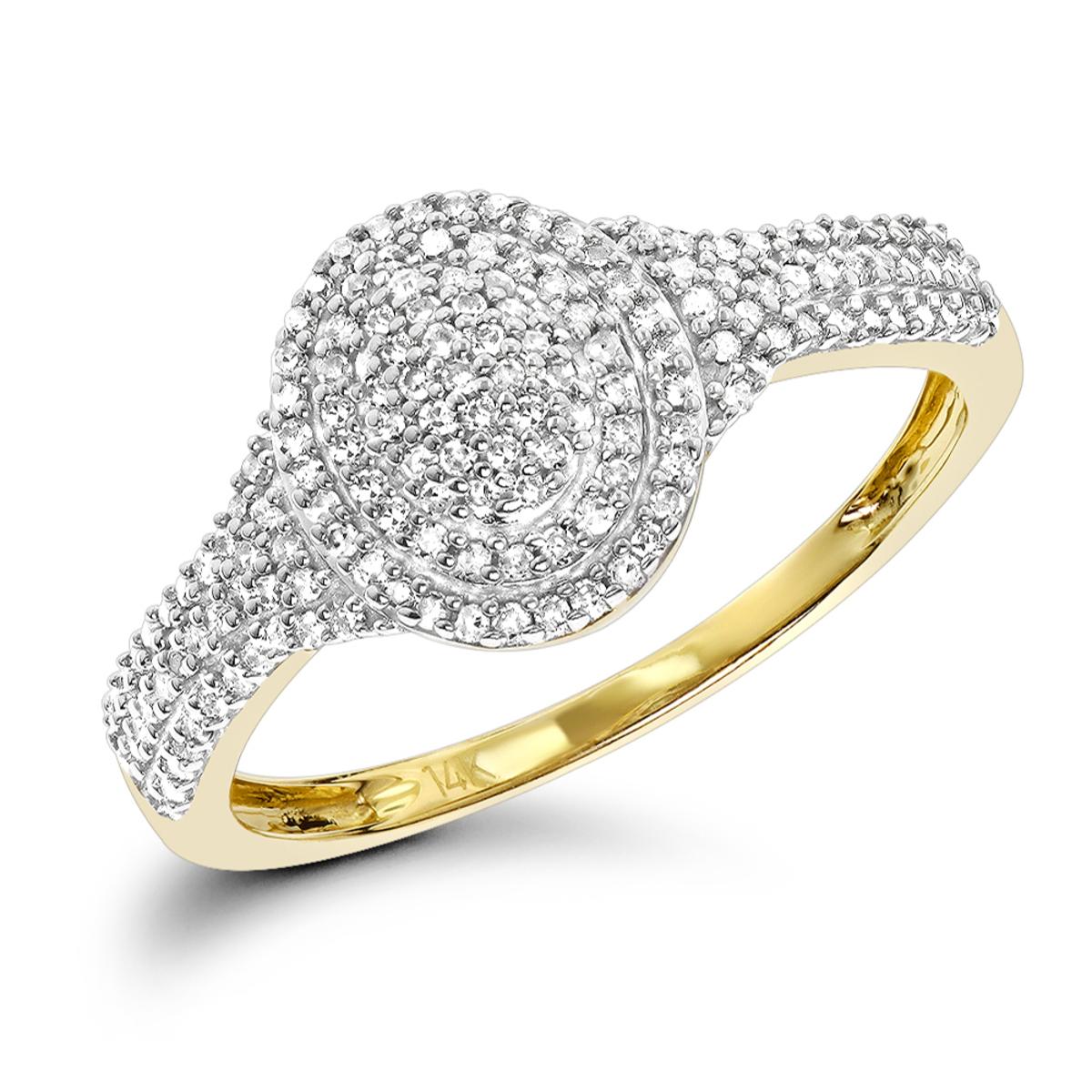 Diamond Oval Shaped Ring 14K 0.33ct