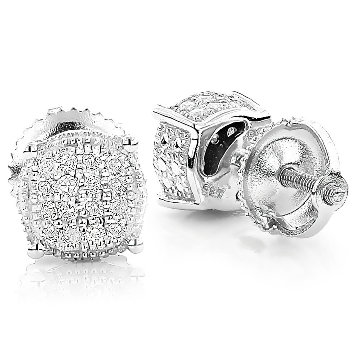 Diamond Stud Earrings 0.25ct Sterling Silver