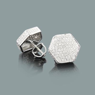 Diamond Stud Earrings 0.75ct Sterling Silver