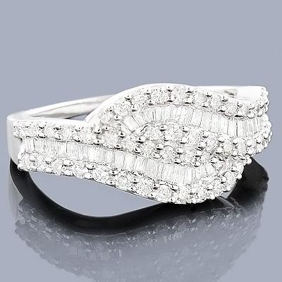 Diamond Swirl Ring 14K Gold 1.25ct