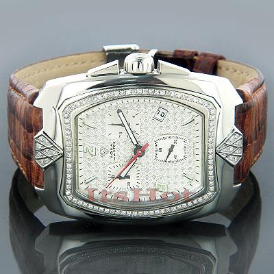 Diamond Watches Mens Diamond Aqua Master Watch 1.25ct
