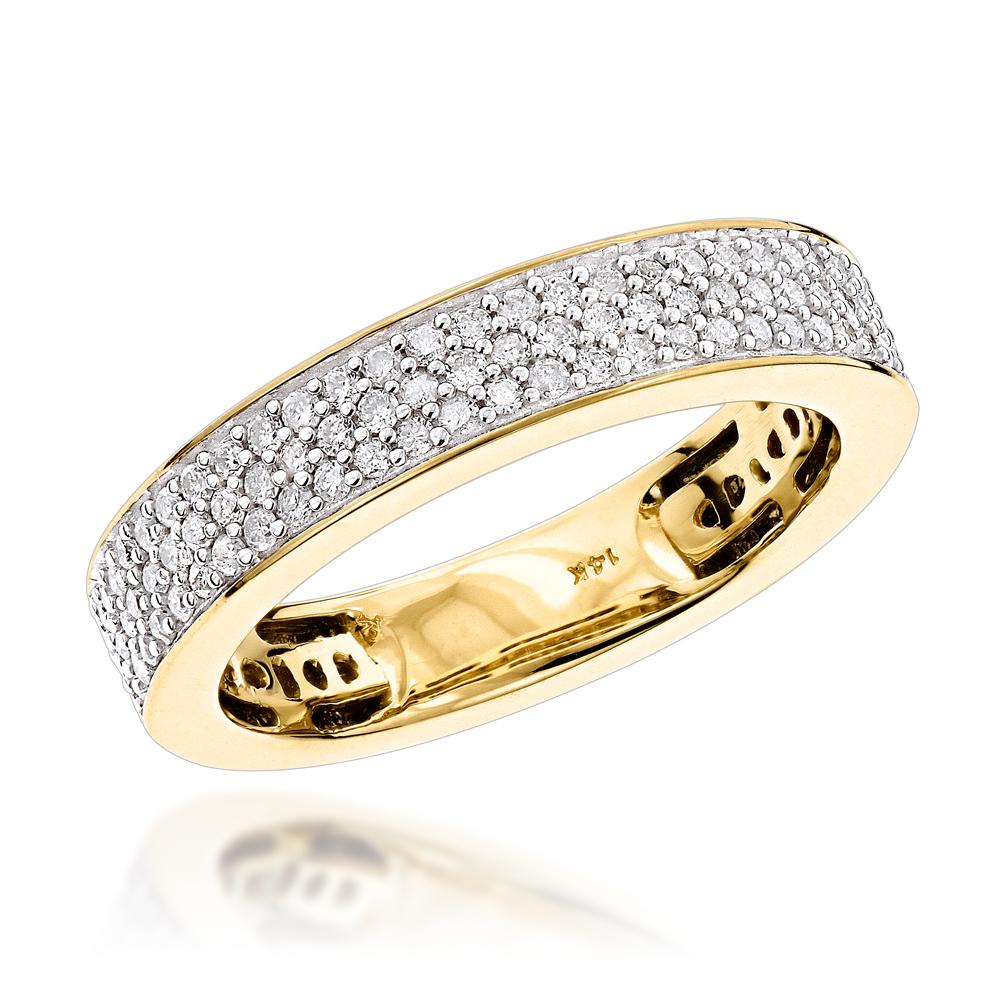 Classic Diamond Wedding Bands 14K Designer Diamond Ring 0.4ct