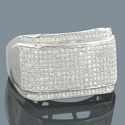 Diamond Wedding Bands 14K Gold Diamond Ring 0.81ct