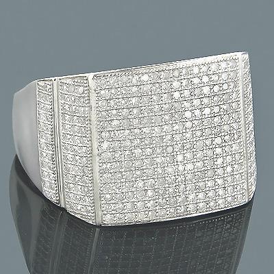 Diamond Wedding Bands 14K Gold Diamond Ring 1.16ct