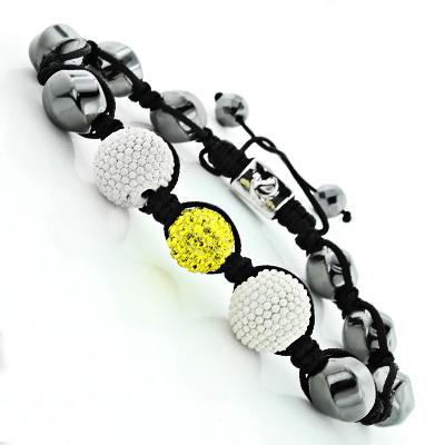Disco Ball Bracelets: Beaded Yellow Crystal Bracelet