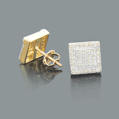 Discount Diamond Earrings 0.45ct 10K Gold Studs