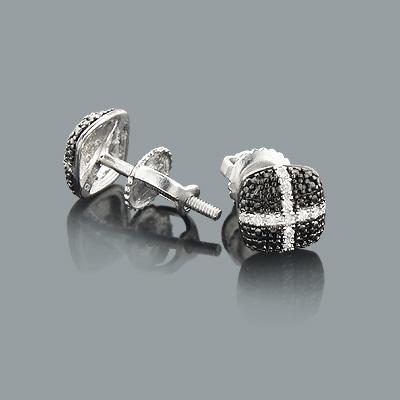 Discount Diamond Earrings in Sterling Silver 0.11ct