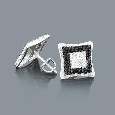 Discount Diamond Earrings in Sterling Silver 0.14ct