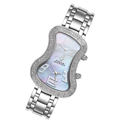 Dual Time Zone Watch Aqua Master Diamond Watch 1.5ct
