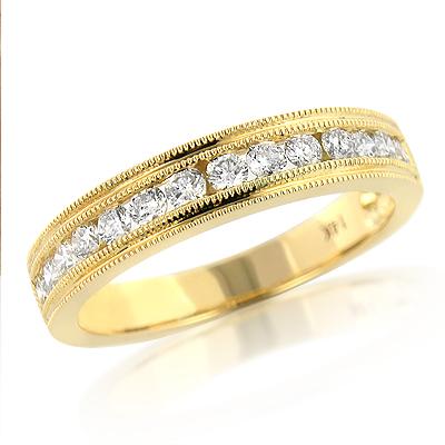 Thin Elegant Diamond Wedding Bands for Women 14K 0.59ct