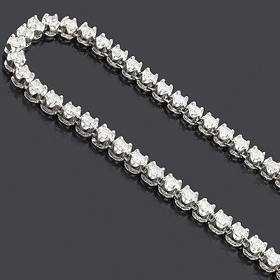 Eternity Diamond Necklace Chain 14K 25.03ct