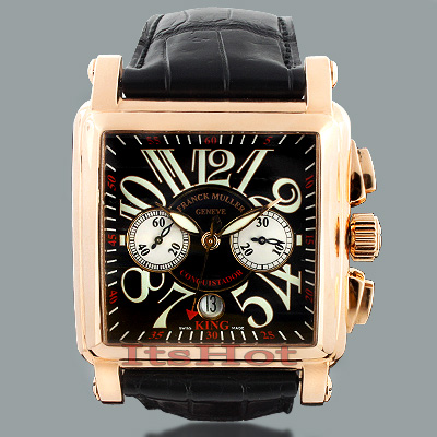 Franck Muller Rose Gold Watch 10000 K CC King Conquistador Custom