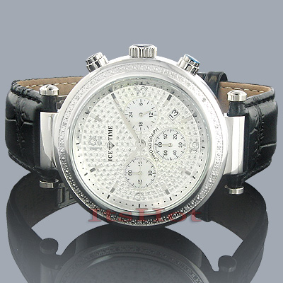 Freeze Ice Time Watches Mens Diamond Watch 0.20ct