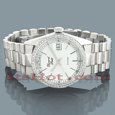 Geneve Watches Solid White Gold Watch w Diamonds 0.75ct