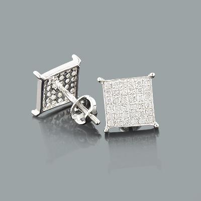 Genuine Diamond Earrings 0.36ct Sterling Silver